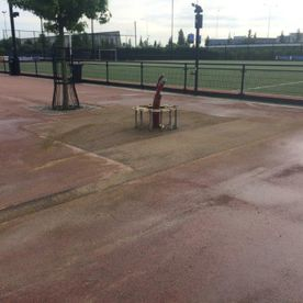Renovatie tennisbaan